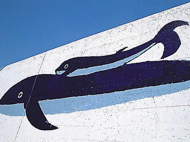 入野漁港岸壁の壁画