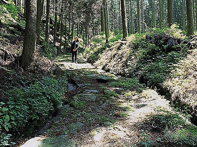境ノ松坂の石畳