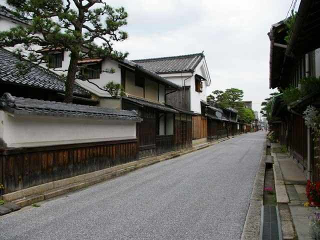 近江八幡の古い町並み